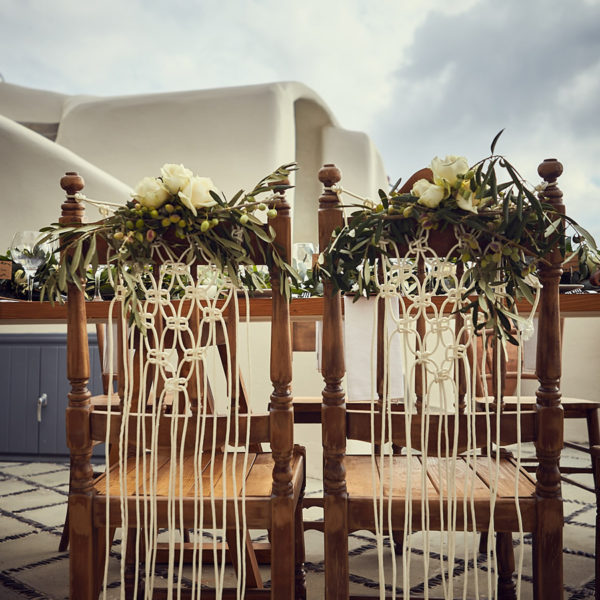 Bring boho chic to your Santorini Wedding