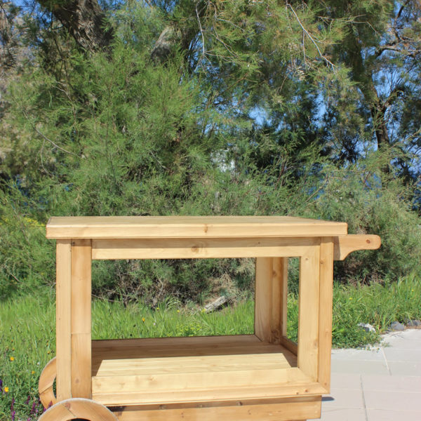 Handcrafted Wooden Cart - OPEN