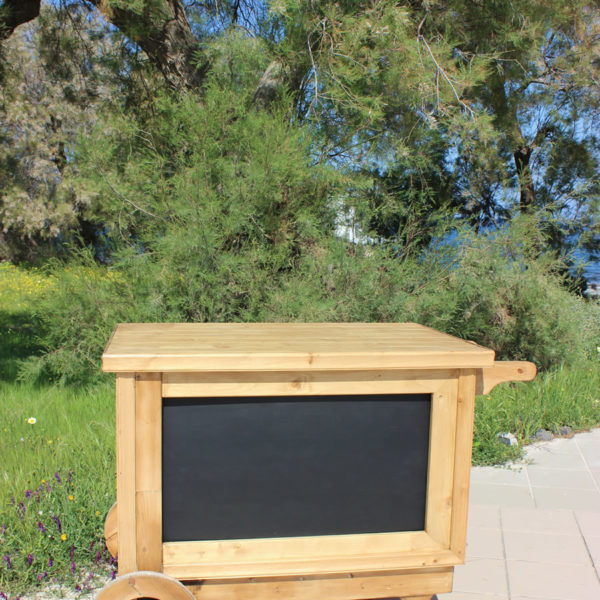 Handcrafted Wooden Cart - BLACKBOARD