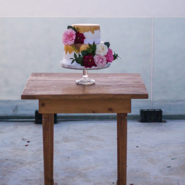 Small Wooden Cake Table