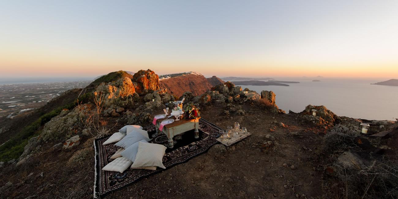 Proposals/Photo Shoot Setups by Weddings & Whimsy Santorini