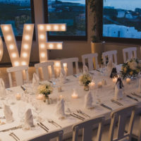 Light Up Letters by Weddings & Whimsy Santorini