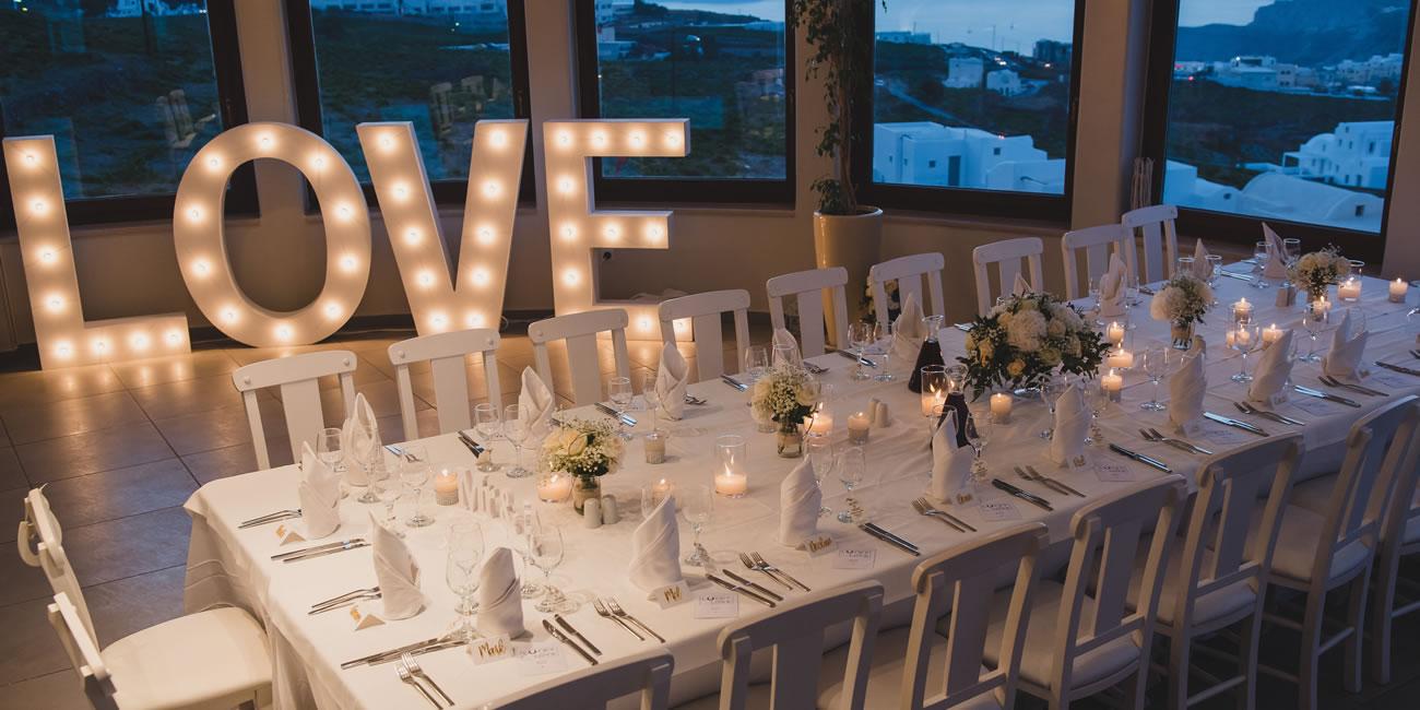 Light Up Letters by Weddings & Whimsy Santorini