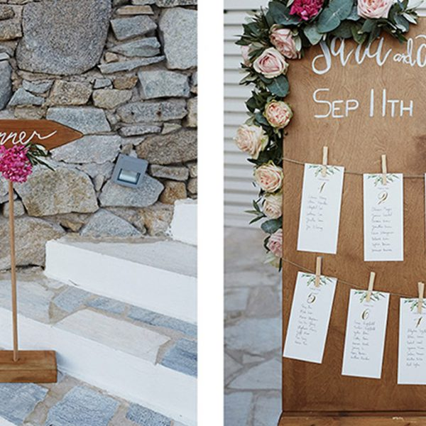Prop hire specialists for Santorini destination weddings