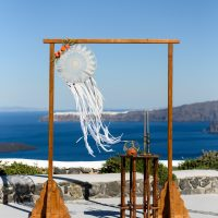 Wedding props and accessories Santorini destination weddings