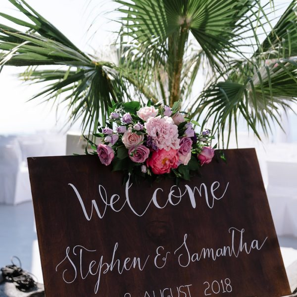welcome, table plan, menu, place cards, all signage