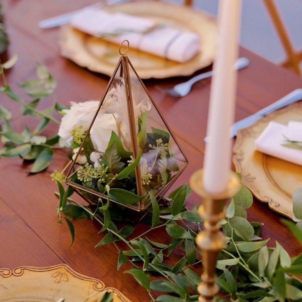 tabletop details, reception table, vintage candlesticks