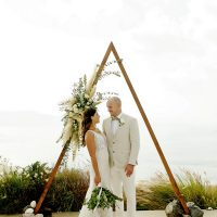 Ceremony, triangle, boho chic