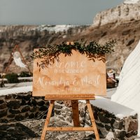 handpainted, handcrafted signage for your wedding event