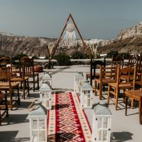 bo ho style, oriental carpet, Persian, Santorini wedding