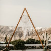Geometric, triangle arch, dream catcher, boho style