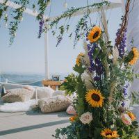 Wedding flowers, wedding proposal, she said yes