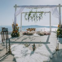 Get down on one knee with Weddings & Whimsy, Santorini