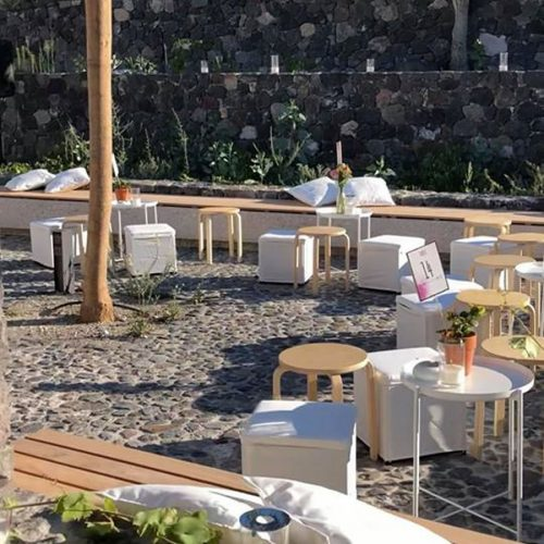 Wooden benches and stool selection great as wedding props