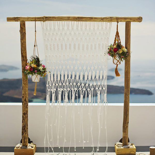 Macrame, boho. white elegance, caldera event, styled for you