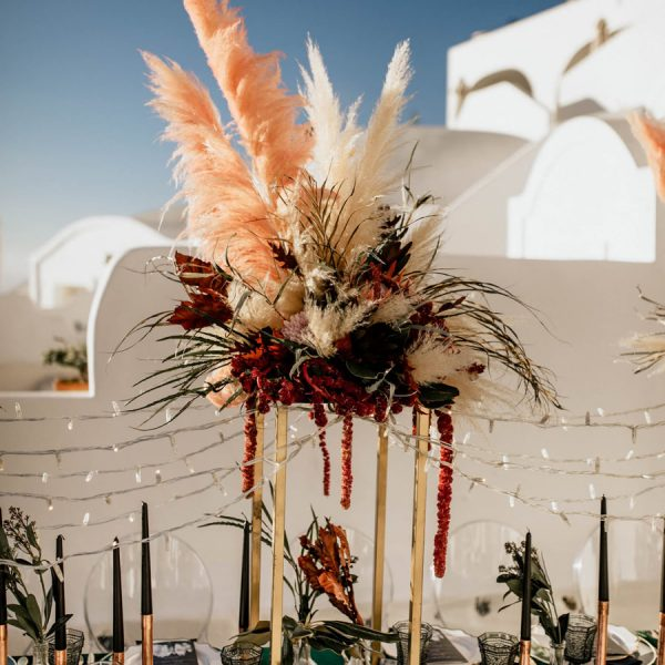 Wedding decor, props and accessories for your Santorini event