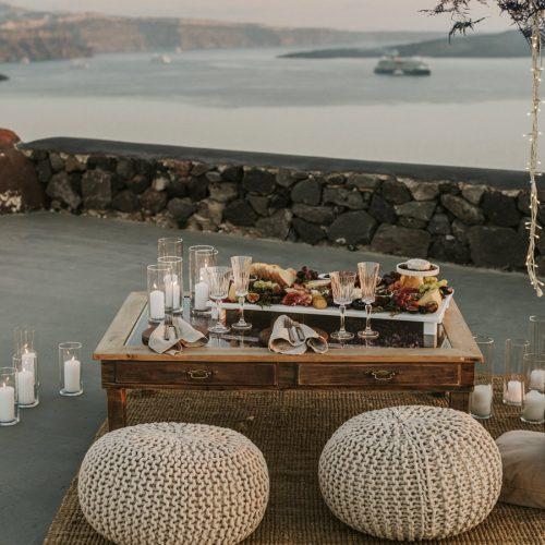 Santorini wedding planning, decoration, accessories, props, decor, rental items