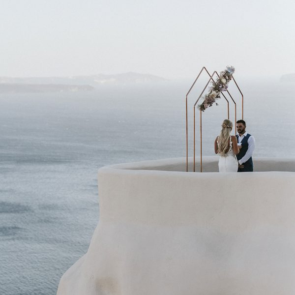ceremony arches, pergolas, decor, accessories, props, rentals, Santorini destination event, wedding furniture, elopement, Greece wedding