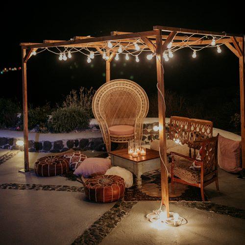 Table and chair ideas for Santorini weddings