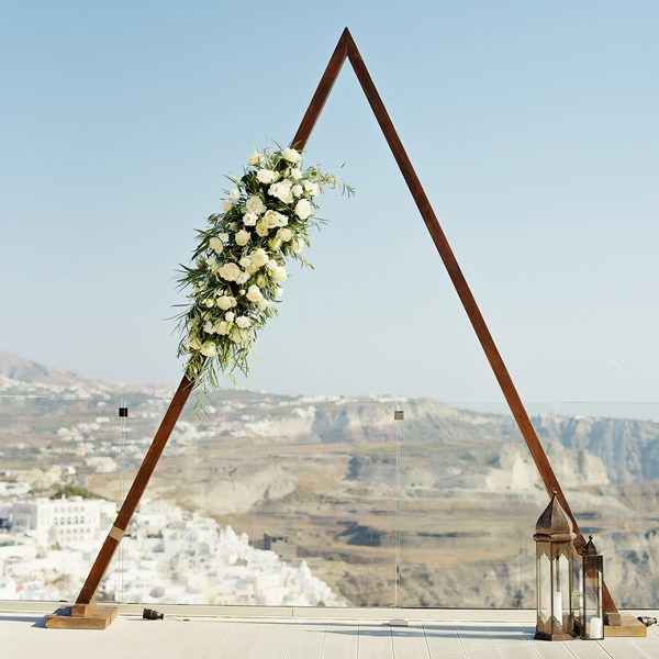 Santorini wedding planning, decoration, accessories, props, decor, rental items